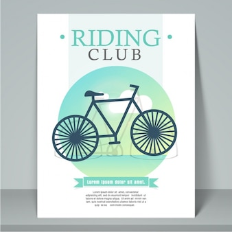 Cycling club brochure template