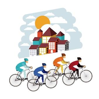 サイクリング競争アイコンデザインを隔離