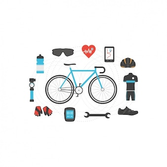 Дизайн велоспорта элементы