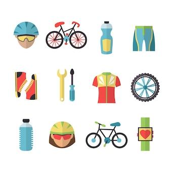 サイクリング機器のインフォグラフィック
