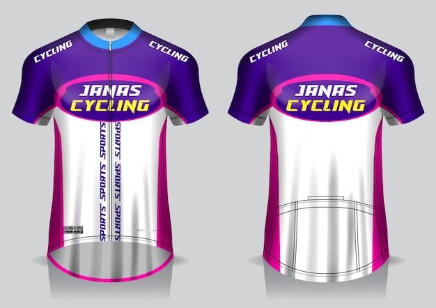 Велосипедный трикотаж, униформа, футболка с видом спереди и сзади