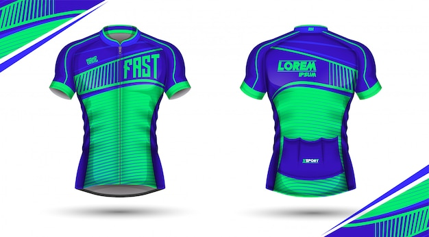 Cycling jersey front and back