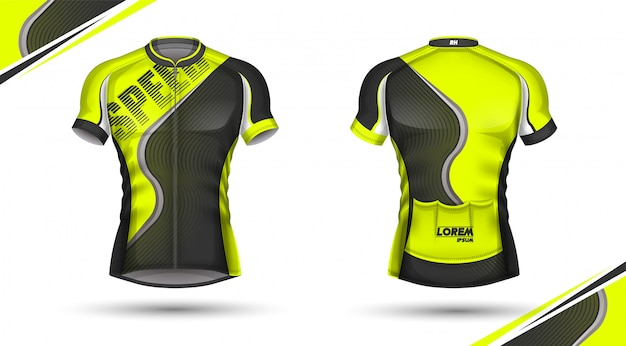 Cycling jersey, front and back
