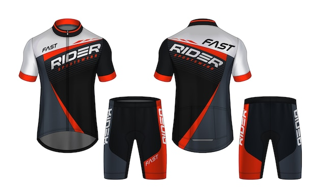Cycling jersey set design