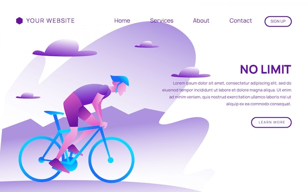 Cycling landing page website template