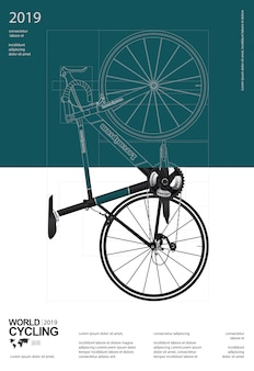 Cycling poster design template