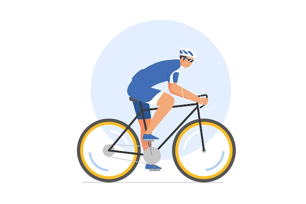 Cycling race vector illustration