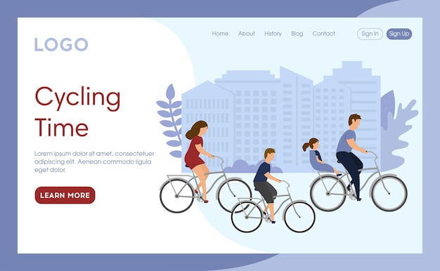 Cycling time landing page