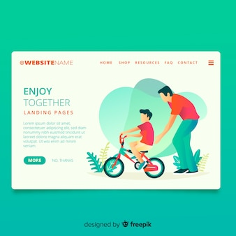 Cycling together landing page