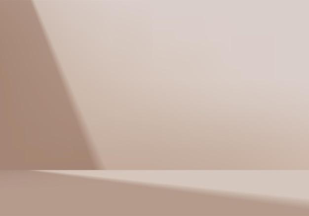 Цилиндр абстрактная минимальная сцена с геометрической платформой. рендеринг летнего фона с светом. стенд для демонстрации косметической продукции. сценическая витрина на пьедестале современной студии бежевая пастель