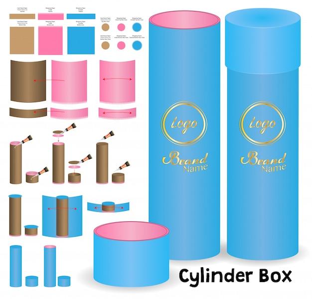 Cylinder box packaging die cut