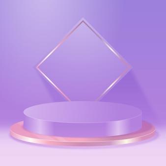 Белые элегантные пьедесталы цилиндрической формы для презентации объекта или продукта. абстрактная эстетическая сцена с подиумами геометрической формы. векторный шаблон этапа.