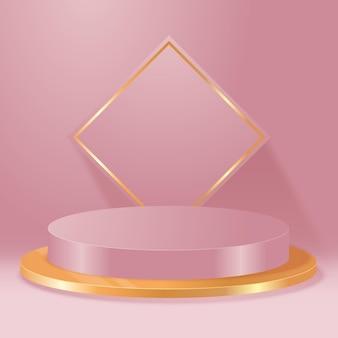 Белые элегантные пьедесталы цилиндрической формы для объекта или презентации продукта