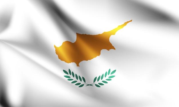 キプロスの国旗が風に吹かれて。