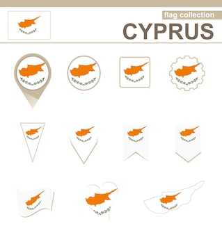 Cyprus flag collection, 12 versions
