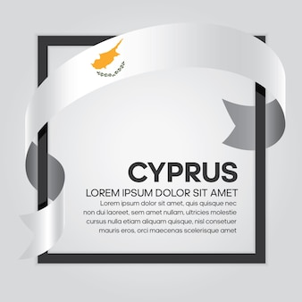 Cyprus ribbon flag, vector illustration on a white background