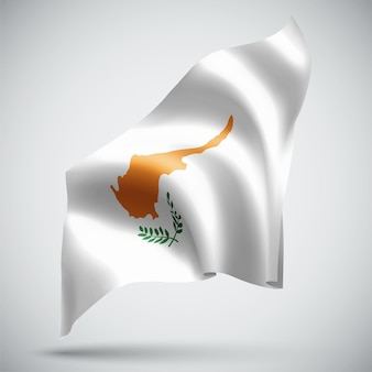 Cyprus, vector 3d flag isolated on white background
