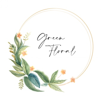 Cyrcle floral frame