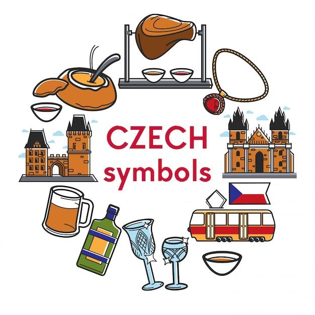 Czech republic famous symbols