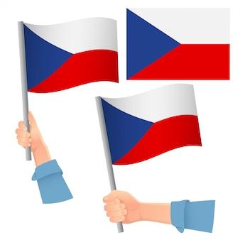 Флаг чехии в руке