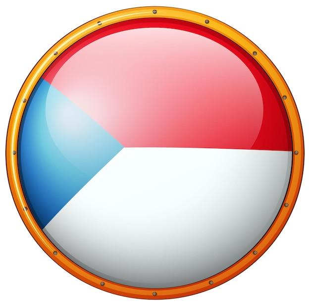 ラウンドフレームにチェコ共和国の旗