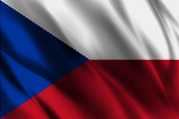 Чешская республика флаг развевается абстрактный фон