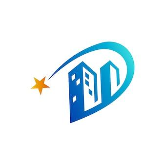 Логотип d + building logo