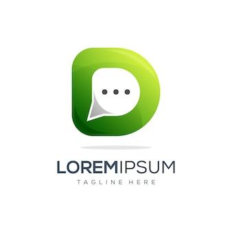 D chat дизайн логотипа готов к использованию