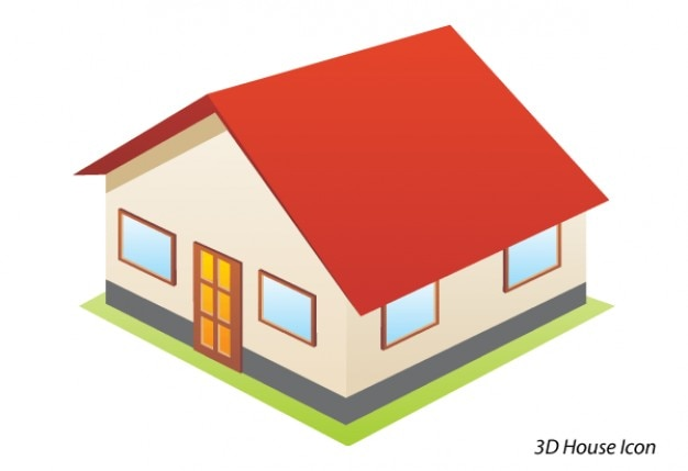 D house icon free vector