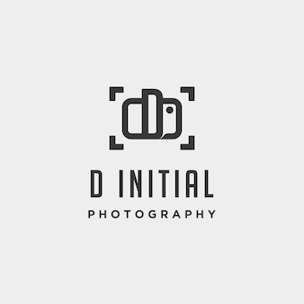 D initial photography logo template vector design icon element