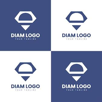 D letter diamond jewellery logo d monogram diamond logo vector design template