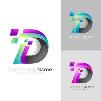 D логотип и технология пиксельного дизайна, современные логотипы