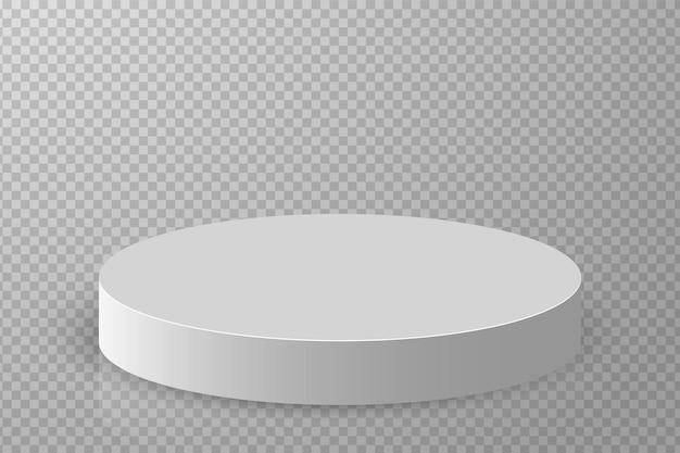 D表彰台台座プラットフォームまたはショールームスタンド白い丸いスタジオステージプラットフォーム空のアリーナ