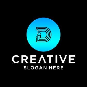D tech logo design