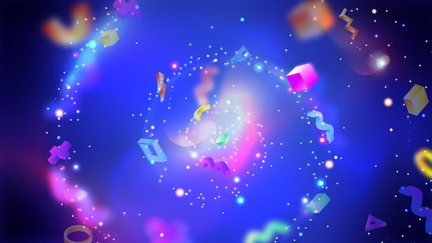 Dベクトル抽象的なカラフルなデザイン青い未来的な背景トレンディな幾何学的なイラスト
