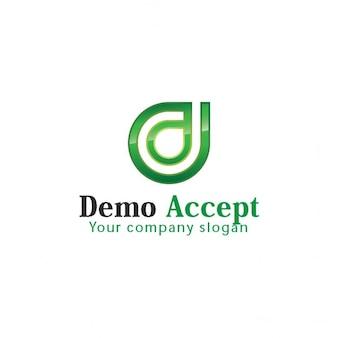 D письмо логотип