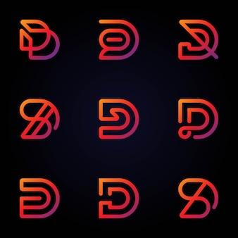 Набор красочных букв d