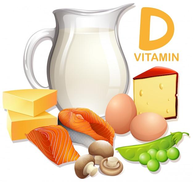 Набор продуктов с витамином d