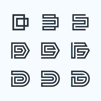 Буква d с логотипом