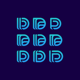 D буква логотип