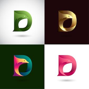 Креативный дизайн логотипа буква d