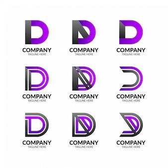 Современная буква d коллекция логотипов