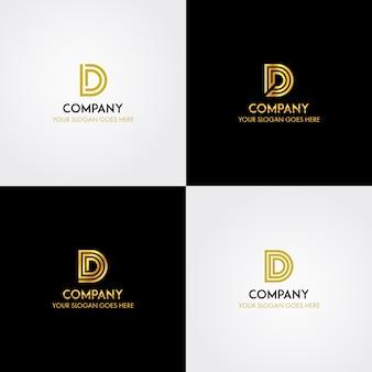 Инициалы буква d шаблон логотипа