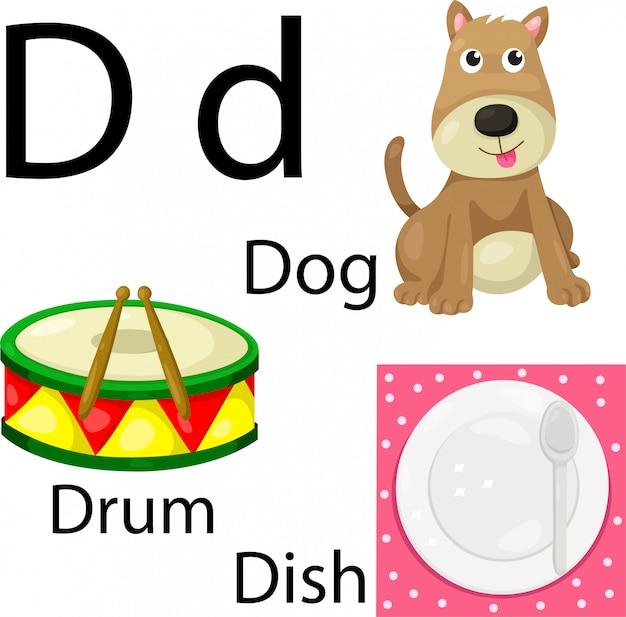 Иллюстратор буквы d