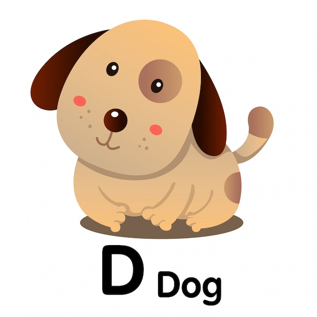 D犬動物のイラストレーター