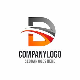 Современный дизайн логотипа буква d