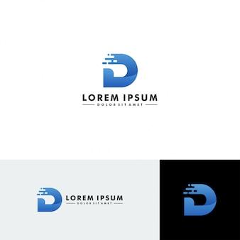 文字dのロゴのテンプレート