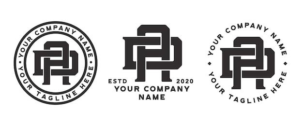 Да монограмма дизайн логотипа