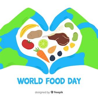 手描きの世界の食べ物da