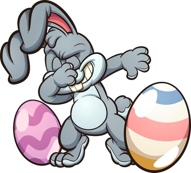 Dabbing easter bunny